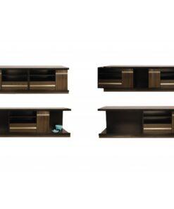 میز تلویزیون هایگلاس هاردستون مدل HS-4040 با پنج مدل چیدمان