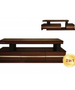 میز تلویزیون هایگلاس هاردستون مدل HS-4060 با دو مدل چیدمان
