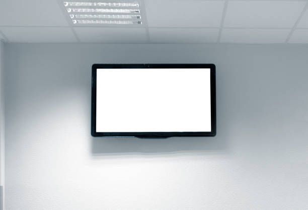 blank white tv screen on the wall picture id1182429044